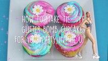 How To Make Glitter Rainbow Cupcakes