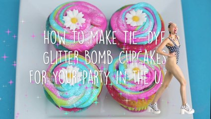 How To Make Glitter Rainbow Cupcakes