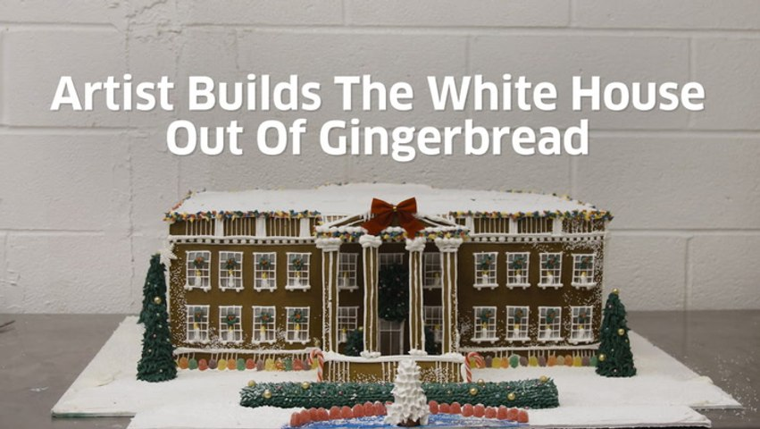 Artist Builds The White House Out Of GingerBread