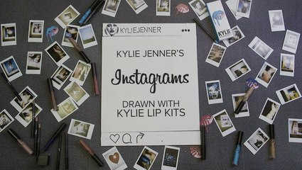 Kylie Jenner's Instagrams Drawn With Kylie Lip Kits