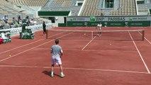 Roland-Garros: Roger Federer à l'entraînement