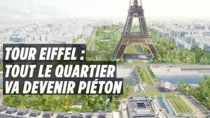 Le quartier entre la Tour Eiffel et le Trocadéro va devenir piéton