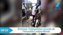 Brève interpellation de  Lambert MENDE à Kinshasa