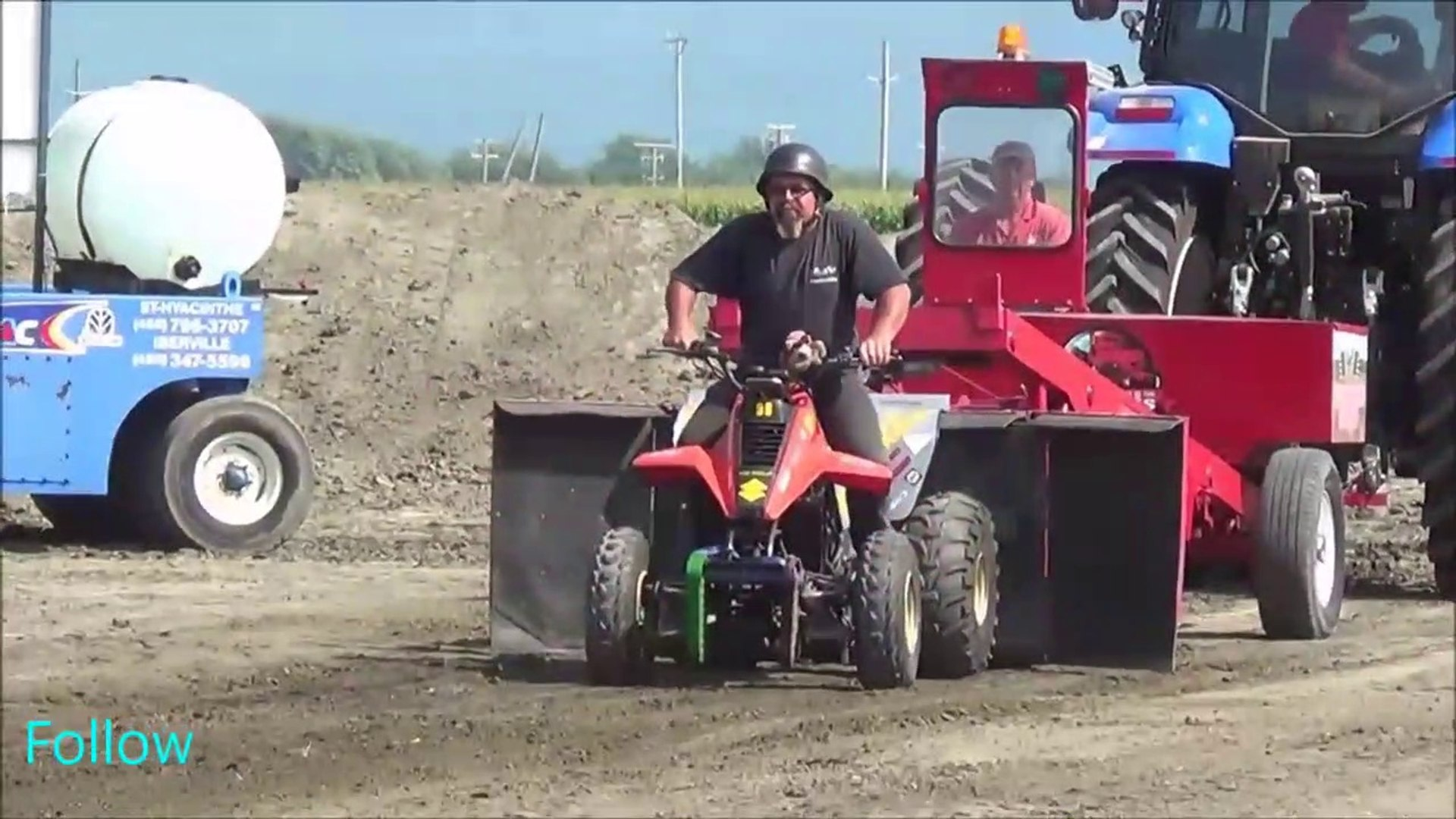 Modified Garden Tractors Pulling 1400lbs At St Damase Video