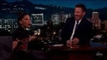 Naomi Scott Talks 'Aladdin' Co-Star Will Smith on 'Kimmel'   THR News