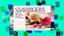 Full version  Classroom Assessment: What Teachers Need to Know  Best Sellers Rank : #3