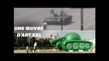 Un tank gonflable géant pour commémorer les 30 ans de Tiananmen