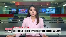 Nepalese sherpa sets new Mount Everest record again
