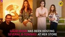 Shah Rukh Khan's wife Gauri Khan has a fan girl moment with Madhuri Dixit