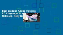 Best product  Adobe Indesign CC Classroom in a Book (2018 Release) - Kelly Kordes Anton