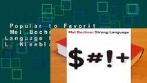 Popular to Favorit  Mel Bochner: Strong Language by Norman L. Kleeblatt