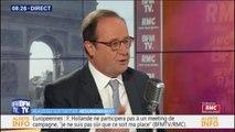 """Pour François Hollande, Emmanuel Macron a voulu jouer """"sur le vote utile"""" pour les européennes"""
