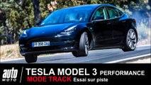 Tesla Model 3 ESSAI sur circuit mode Track POV AUTO-MOTO.COM