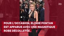 PHOTOS. Cannes 2019 : Elodie Fontan dans une robe très décolletée au bras de son compagnon Philippe Lacheau sur le tapis rouge