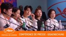 PARASITE - Conférence de presse - Cannes 2019  - VF