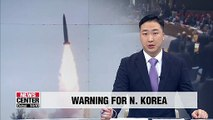 U.S. to seek UNSC measures if N. Korea fires more missiles: Report