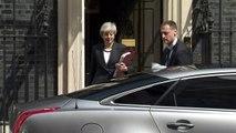 Theresa May departs Downing Street for PMQs
