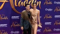 "Mena Massoud ""Aladdin"" World Premiere Purple Carpet"