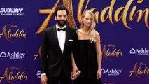 "Marwan Kenzari and Nora Ponse ""Aladdin"" World Premiere Purple Carpet"
