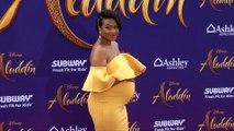 Fresh Prince of Bel-Air star and pregnant Tatyana Ali at Aladdin world premiere in LA
