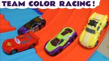 Hot Wheels Learn Colors Learn English Racing with Disney Pixar Cars 3 Lightning McQueen with DC Comics & Marvel Avengers 4 Endgame Superheroes with PJ Masks