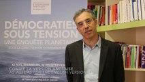 """Présentation par Dominique Reynié de """"Démocraties sous tension"""""""