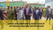 Uhuru does impromptu inspection of affordable housing units in Ngara