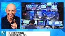 """Louis Aliot fait une crise de jalousie à Marine Le Pen : """"Depuis que Jordan Bardella est dans notre vie, tu ne me regardes plus !"""" (Canteloup)"""