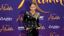 "Christina Milian ""Aladdin"" World Premiere Purple Carpet"