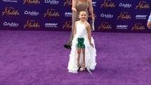 "Lexi Rabe ""Aladdin"" World Premiere Purple Carpet"