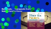 Best product  Therapeutic Exercise Notes - Carolyn Kisner