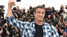 Sylvester Stallone shows his muscles in Cannes 2019