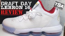 Nike Lebron 16 Draft Day Low Sneaker Detailed Look Review