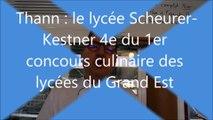 Thann . Une crème de chef.  Francis Willegger, chef de cuisine du lycée Scheurer-Kestner a obtenu la 4e place au concours des cantines des lycées du Grand Est.