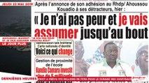 """Le Titrologue du 23 Mai 2019 : Ahoussou Jeannot à ses détracteurs, """"je n'ai pas peur et je vais assumer jusqu'au bout"""""""