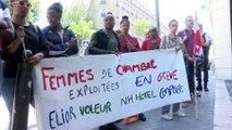 Les femmes de chambre en grève ont été expulsées de leur piquet de grève devant l'hôtel NH Collectio