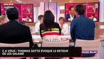 C à vous : Thomas Sotto évoque le retour de Léa Salamé (vidéo)