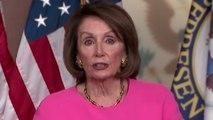 "Pelosi says Dems ""not on a path to impeachment"" despite Trump's ""stunt"""