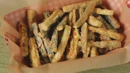 Healthy Oven-Fried Zucchini Sticks Recipe