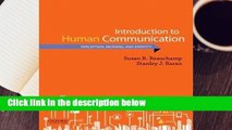 Full version  Introduction to Human Communication: Perception, Meaning, and Identity Complete