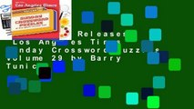 Trial New Releases  Los Angeles Times Sunday Crossword Puzzles, Volume 29 by Barry Tunick