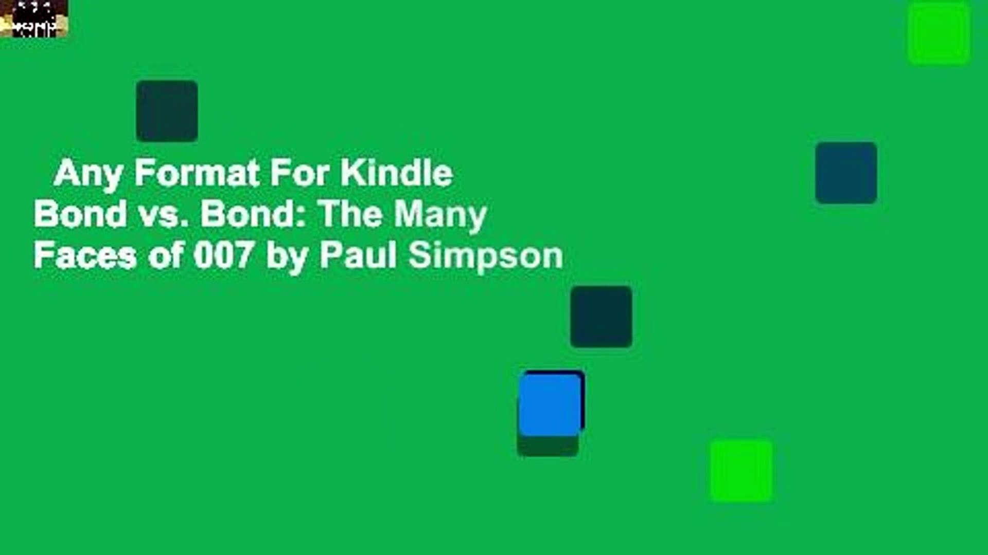Any Format For Kindle  Bond vs. Bond: The Many Faces of 007 by Paul Simpson