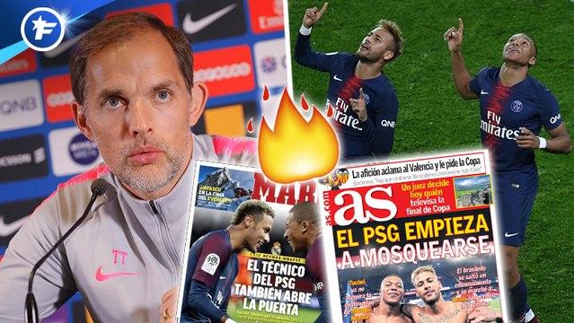 L'Espagne réagit aux propos de Tuchel sur Neymar et Mbappé, Manchester United fixe le prix de Romelu Lukaku