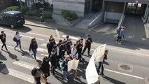 Une centaine de lycéens malouins marchent pour le climat