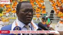 Le ministre des sports et loisirs appelle les ivoiriens à devenir des supporters nouveaux pour conduire les Eléphants vers la victoire