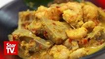 Retro Recipe: Jackfruit Prawn Curry