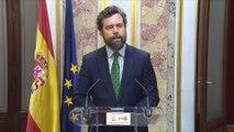 Vox pide invalidar la condición parlamentaria de diputados presos