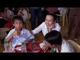 Why Poe chose to be with Payatas kids on 1st day of campaign?