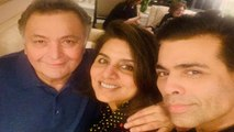 Karan Johar spends quality time with Rishi Kapoor & Neetu Kapoor in New York | FilmiBeat