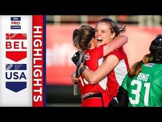 Belgium v USA | Week 12 | Women's FIH Pro League Highlights